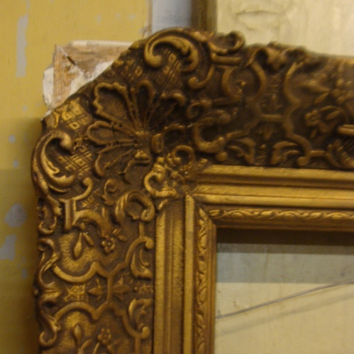 Antieke Schilderij Lijst.Lijst Kader Antiek Decoratie Goud Brons Kleur No 0006