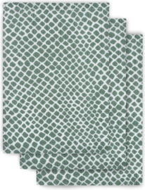Washandje hydrofiel Snake ash green (3pack)