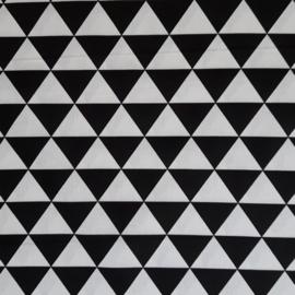 Vlag, driehoek zwart/wit