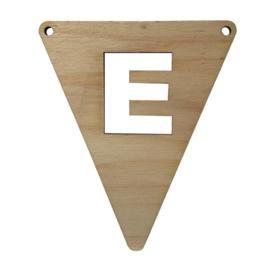 houten vlag E