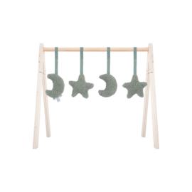 babygym speeltjes moon ash green