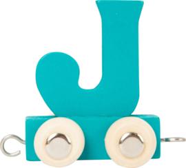 houten lettertrein J petrol