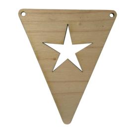 houten vlag 'ster'