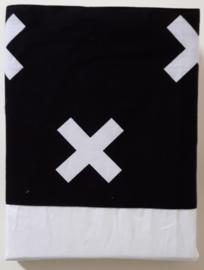 laken zwart wit kruis