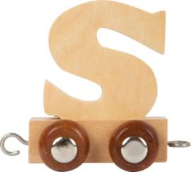 houten lettertrein S naturel
