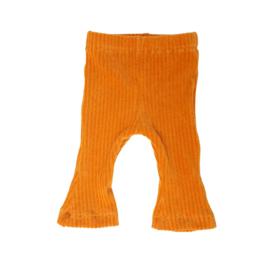 flared pants rib okergeel