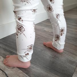 Legging broekje bloempluis zand