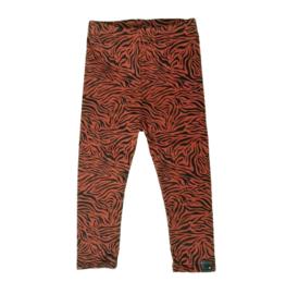 Legging broekje zebra print, roestbruin