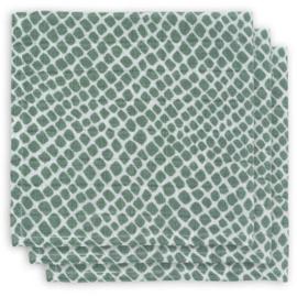 monddoekje hydrofiel snake ash green