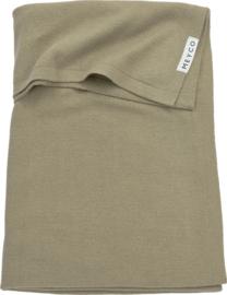 deken fijngebreid taupe