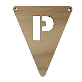 houten vlag P
