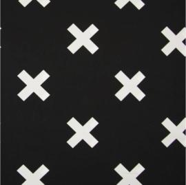 vlag zwart wit kruis, vanaf
