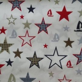 vlag ster rood/grijs/blauw/zand