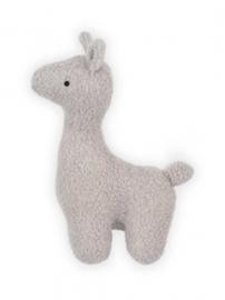 knuffel lama grijs, klein of groot