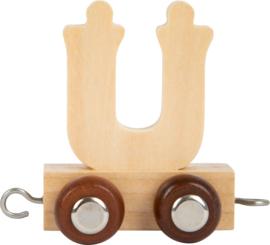 houten lettertrein Ü naturel