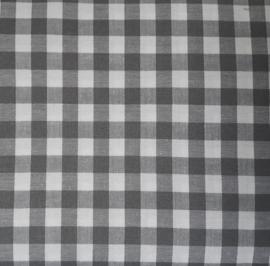 vlag kleine ruit grijs, vanaf