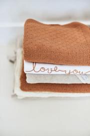 deken gebreid Bliss caramel