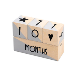 Milestone blocks grey / white (4pcs)