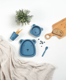 Dinerset bamboe, animal club steel blue