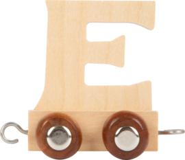 houten lettertrein E naturel