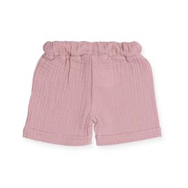 Short cotton wrinkled, pink