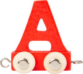 houten lettertrein A rood
