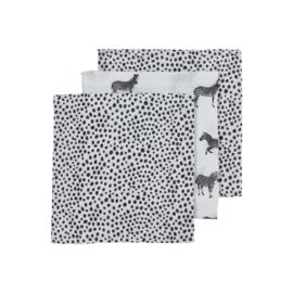 hydrofielluiers zebra zwart wit