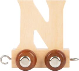 houten lettertrein N naturel