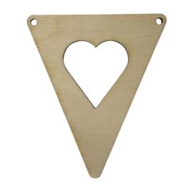 houten vlag 'hart'