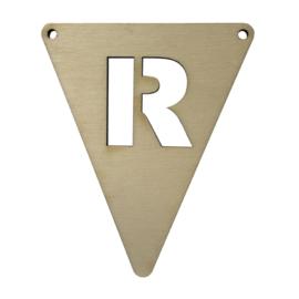 houten vlag R