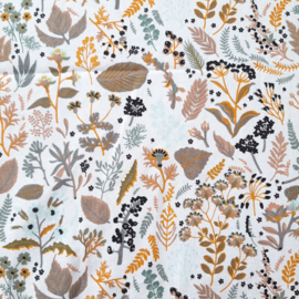 boxkleed bloem oker/zand organic