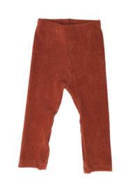 Legging broekje rib roestbruin