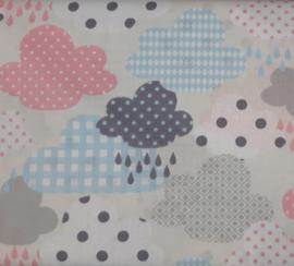 Vlag wolk, roze, grijs, blauwk