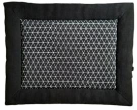 boxkleed grafisch zwart wit
