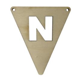 houten vlag N