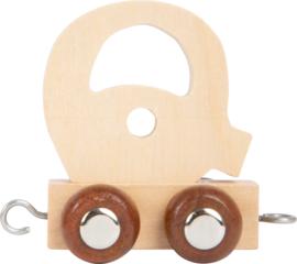 houten lettertrein Q naturel