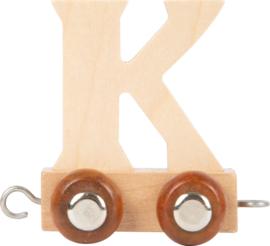 houten lettertrein K naturel