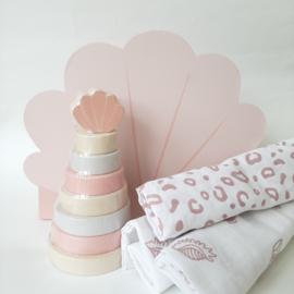 Kraamkado pakket schelp roze