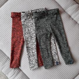 Legging broekje zebra print, groen