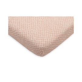hoeslaken jersey snake pale pink