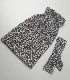 rokje leopard oker