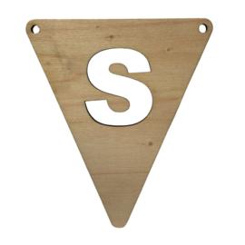 houten vlag S