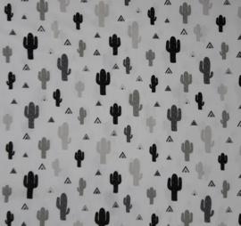 vlag cactus zwart wit, vanaf