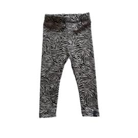 Legging broekje zebra print, zand