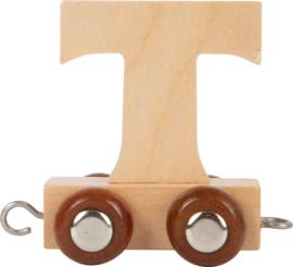 houten lettertrein T naturel