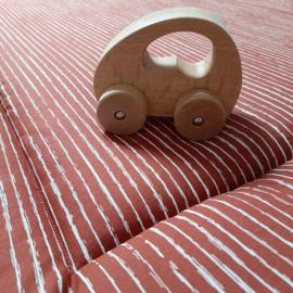 boxkleed streep/stip roest