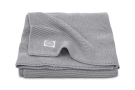 deken basic gebreid grijs