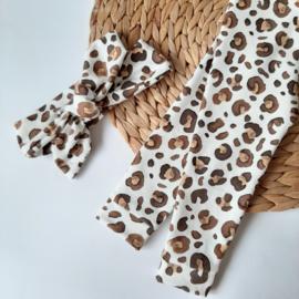 haarbandje leopard zand