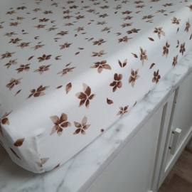 waskussenhoes flower zand/bruin