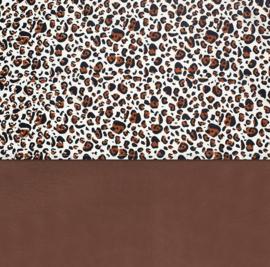 laken leopard naturel/bruin